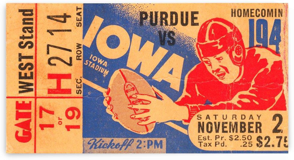 1940 Iowa vs. Purdue by Row One Brand