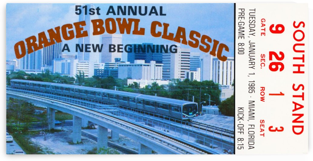 1985 Orange Bowl by Row One Brand