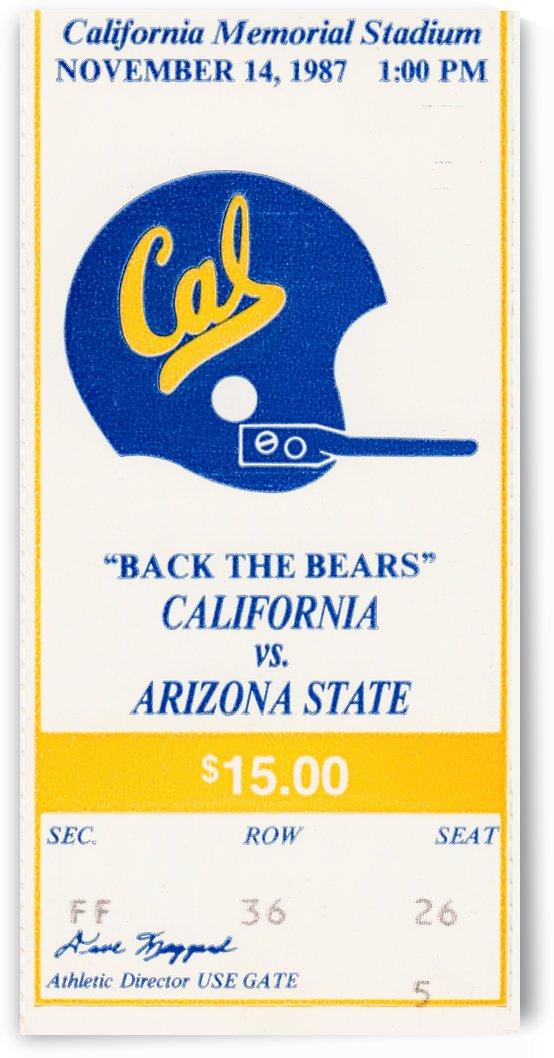 1987 Cal Bears vs. Arizona State by Row One Brand