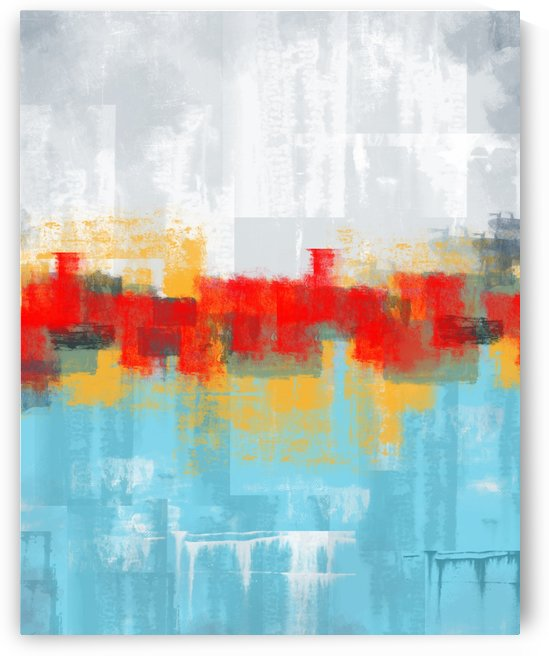 Abstract Blue Gray Red DAP 20003 by Edit Voros