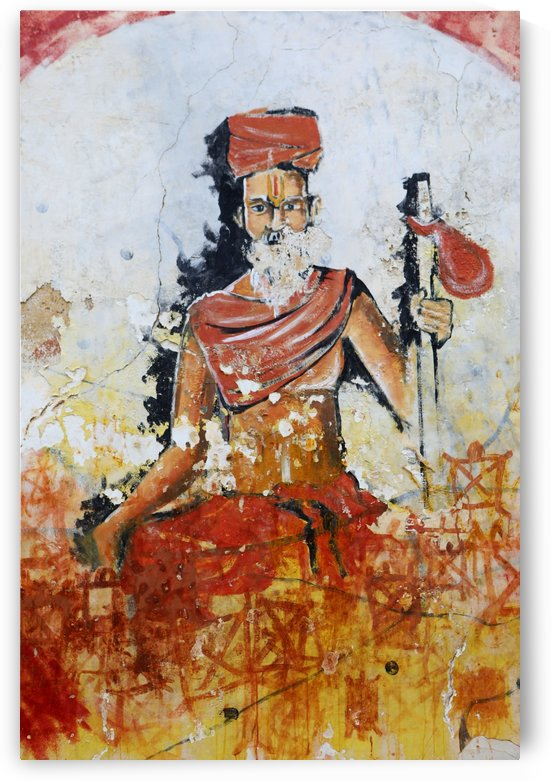 Sadhu wall painting India 6688 by Move-Art