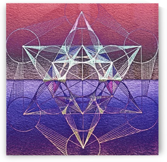 Cube Of Metatron Handdrawing Purple by CvetiArt
