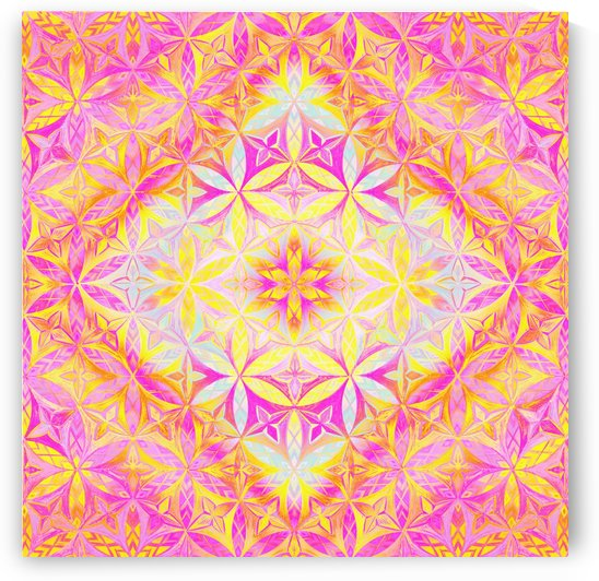 Flower of Life Red Pink  by CvetiArt