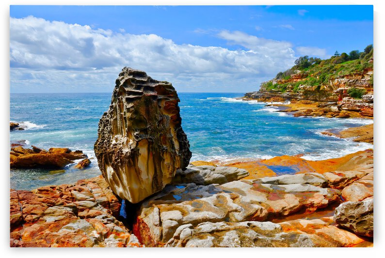 Sandstone Rock ... Bondi Beach Australia by Fred J Bivetto