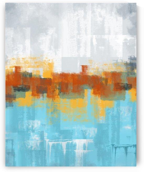 Abstract Blue Gray DAP 20004 by Edit Voros