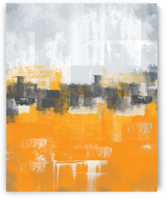 Abstract Orange Gray DAP 20005 by Edit Voros