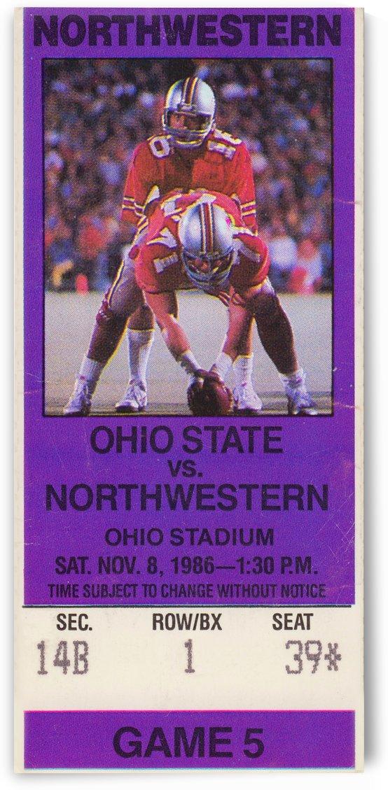 1986 Northwestern vs. Ohio State Buckeyes  by Row One Brand
