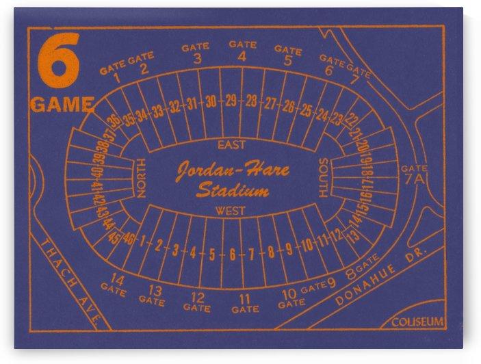 1979 Auburn Tigers Jordan Hare Stadium Map by Row One Brand
