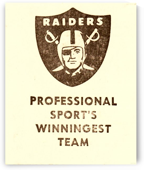 1983 National Football League Los Angeles Raiders Pro Sports Winningest Team by Row One Brand