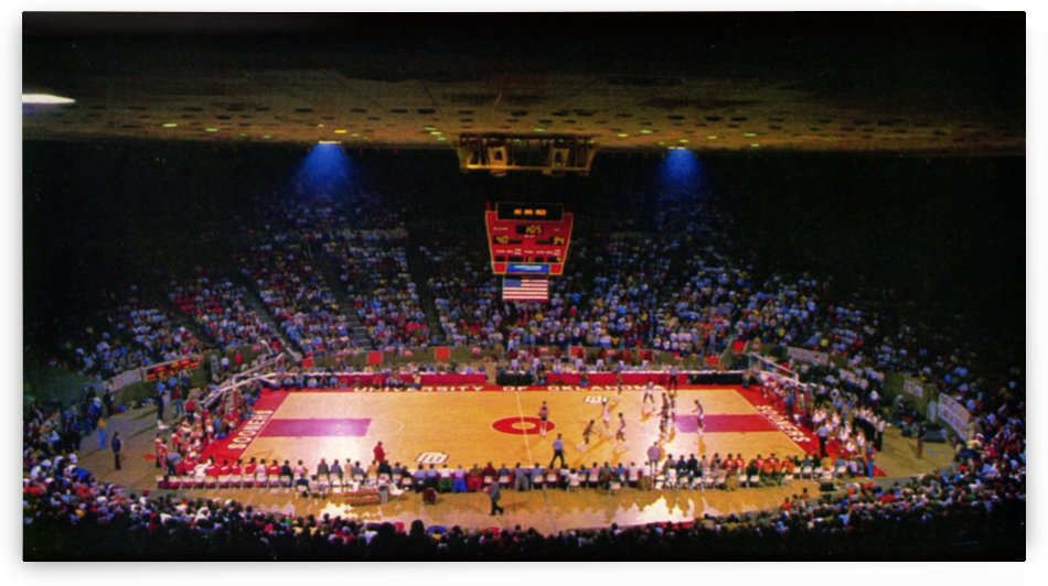1980s College Basketball Lloyd Noble Center Oklahoma Sooners by Row One Brand