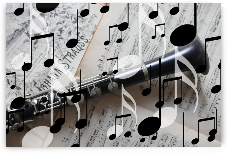 Music Notes Clarinet by Move-Art-Designs