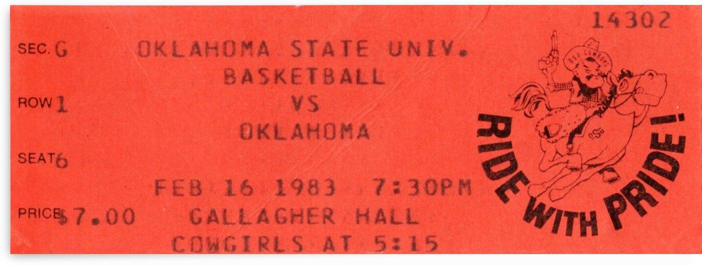 1983 Oklahoma vs. OSU Bedlam Basketball by Row One Brand