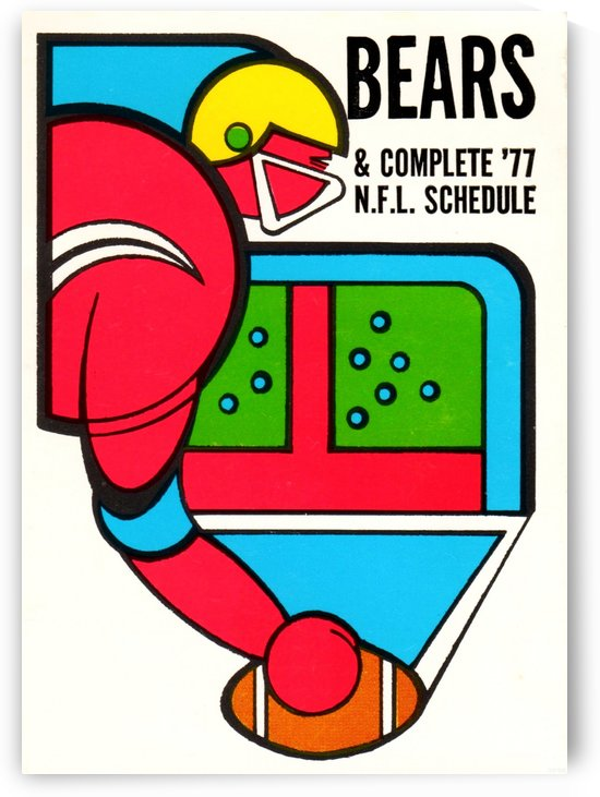 1977 Chicago Bears Schedule by Row One Brand