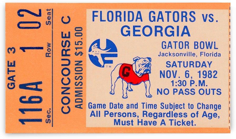 1982 Florida vs. Georgia by Row One Brand