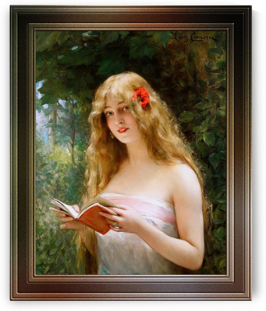 La Belle Liseuse by Leon Comerre Classical Fine Art Old Masters Reproduction by xzendor7
