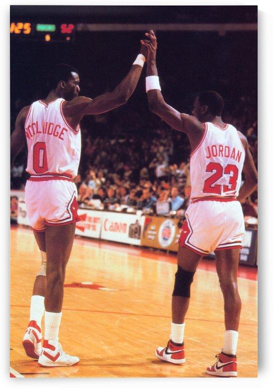 1985 Chicago Bulls Michael Jordan High 5 by Row One Brand