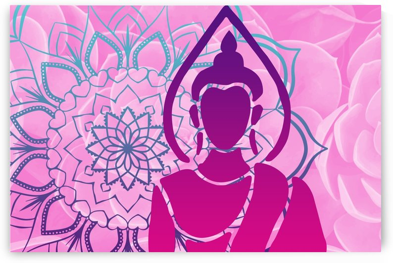 Buddha Mandala Lotos Flower by Move-Art-Designs
