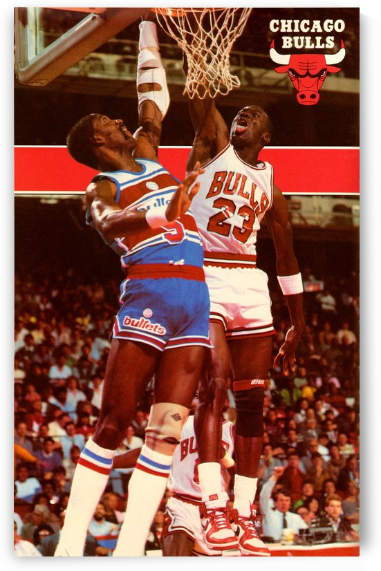 1985 Michael Jordan Dunk Chicago Bulls Poster by Row One Brand