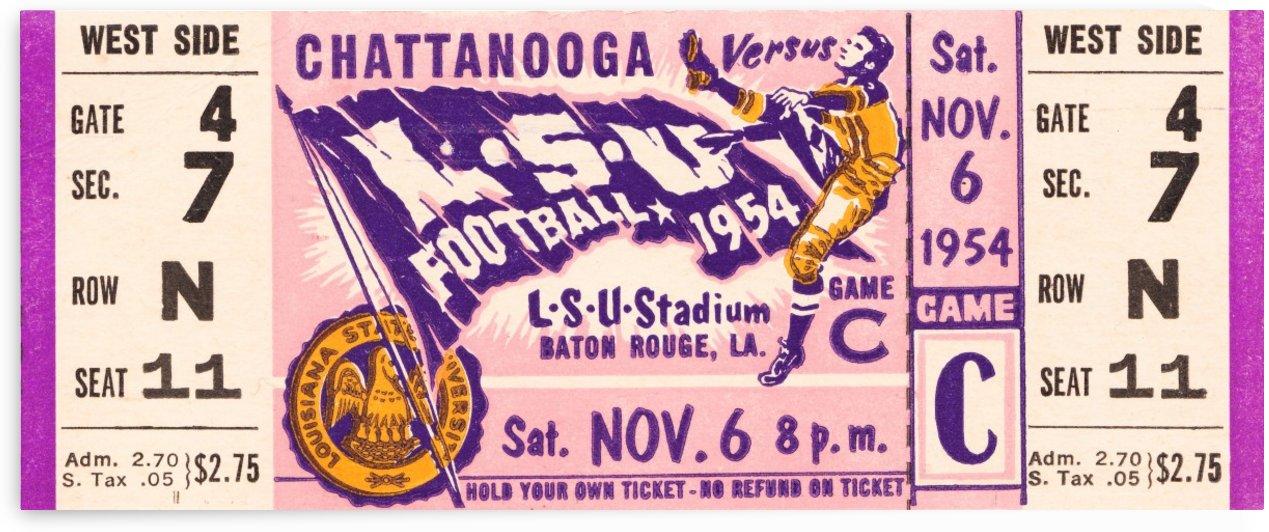 1954 lsu tigers football by Row One Brand