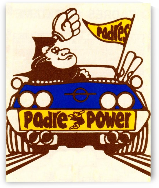 1976 padre power poster san diego by Row One Brand