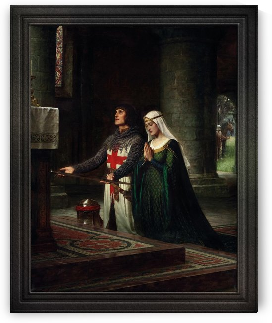 The Dedication by Edmund Blair Leighton Classical Fine Art Reproduction by xzendor7