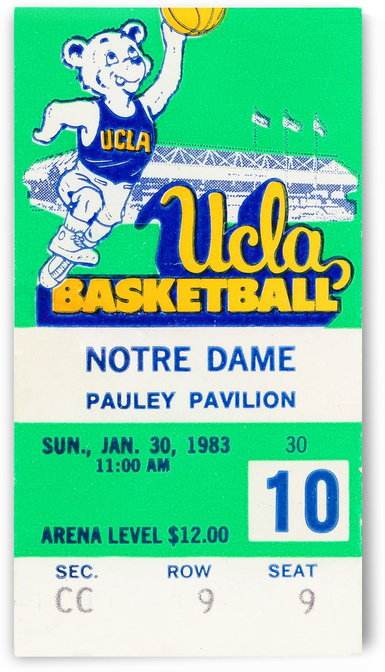 1983 notre dame ucla bruins college basketball by Row One Brand
