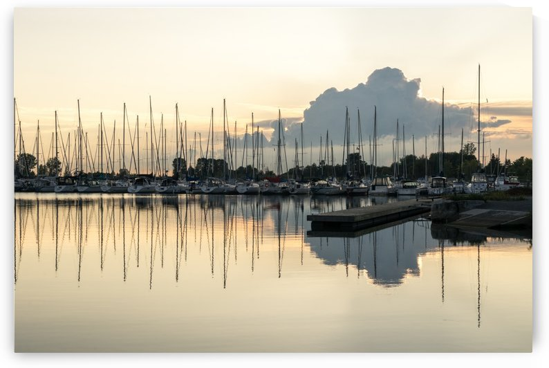 Obscured Marina Sunset - Balanced Symmetry in Silver and Platinum by GeorgiaM