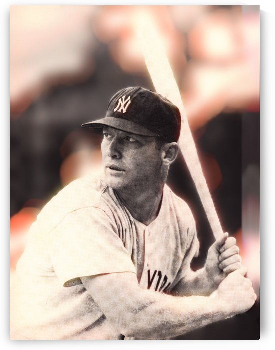 mickey mantle photo wall art  by Row One Brand