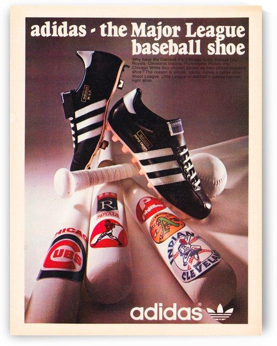 vintage adidas baseball shoe ad by Row One Brand