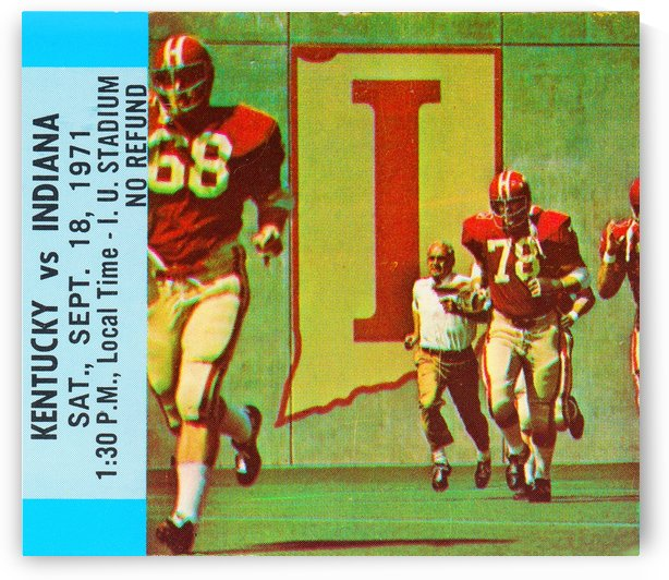 1971 Indiana Football by Row One Brand