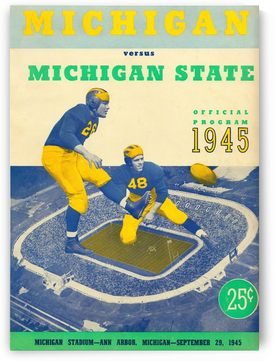 1945 michigan state michigan program by Row One Brand