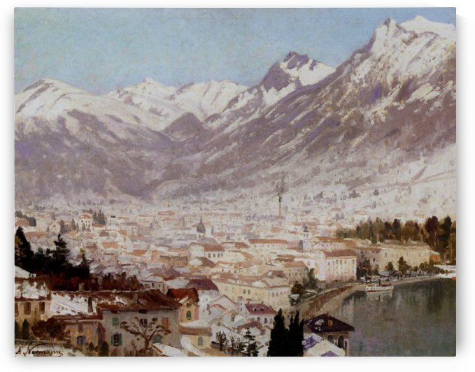 A view of Como by Adelsteen Normann