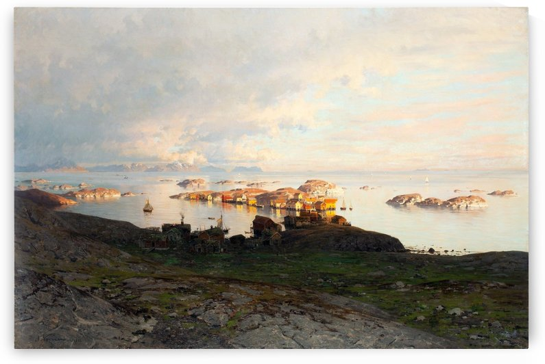 Summer night in Lofoten by Adelsteen Normann
