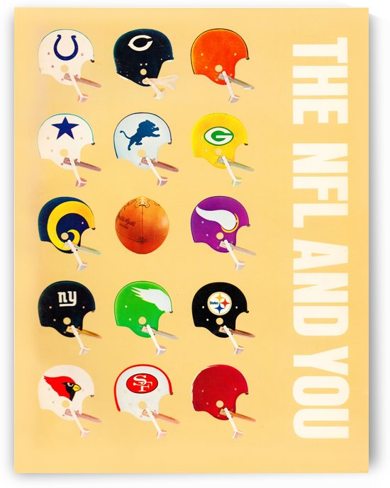 1963 Vintage NFL Football Helmet Poster by Row One Brand