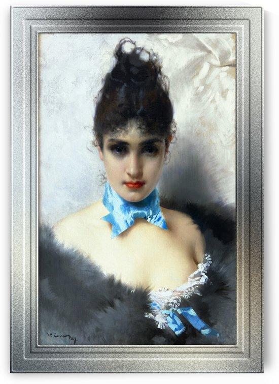 Ritratto Di Donna Elegante by Vittorio Matteo Corcos Classical Fine Art Reproduction by xzendor7
