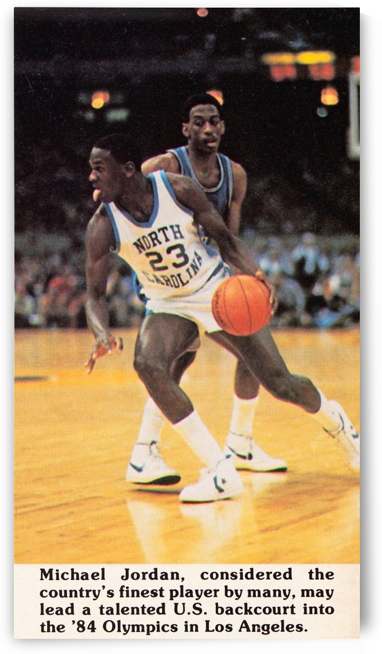 1984 Michael Jordan North Carolina by Row One Brand