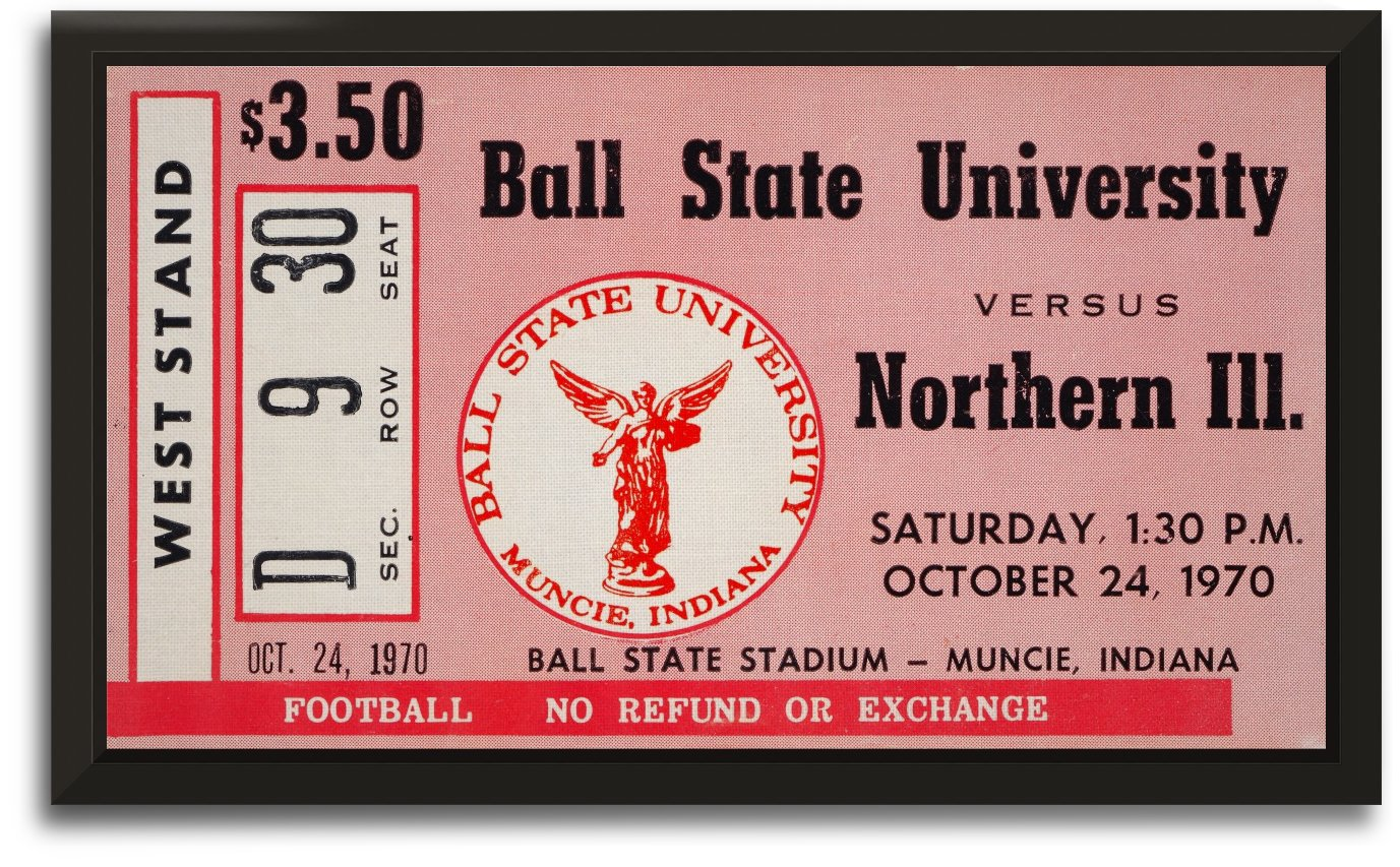 1970 ball state northern illinois muncie by Row One Brand