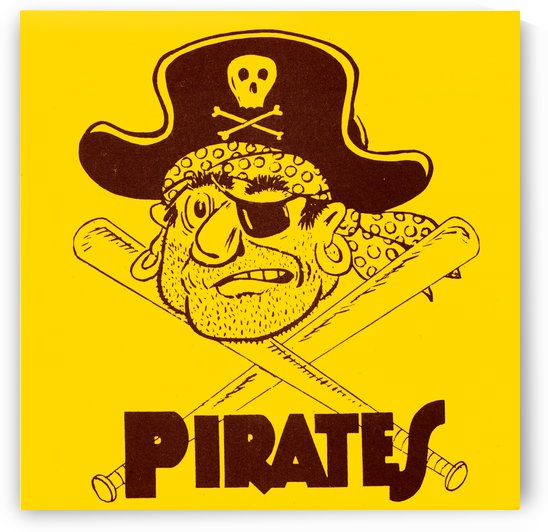 1963 pittsburgh pirates vintage sports art by Row One Brand