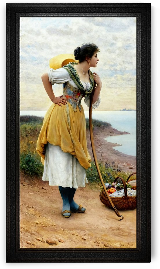 Awaiting The Return by Eugene de Blaas Classical Fine Art Reproduction by xzendor7