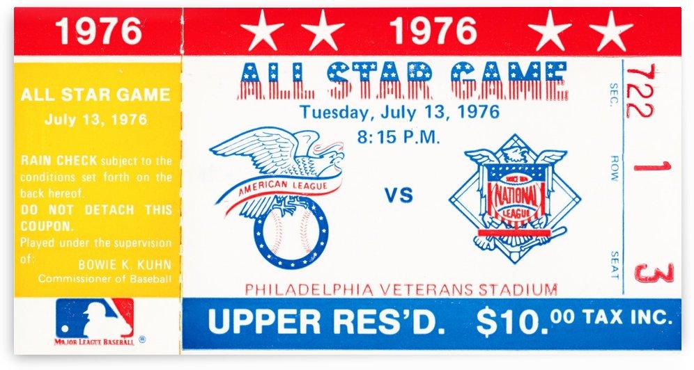 1976 major league baseball all star game philadelphia by Row One Brand