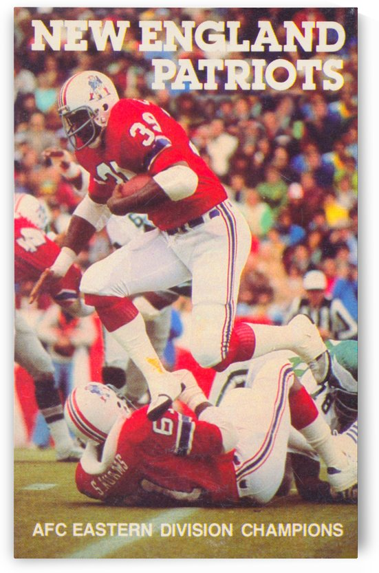 1979 new england patriots vintage nfl poster by Row One Brand