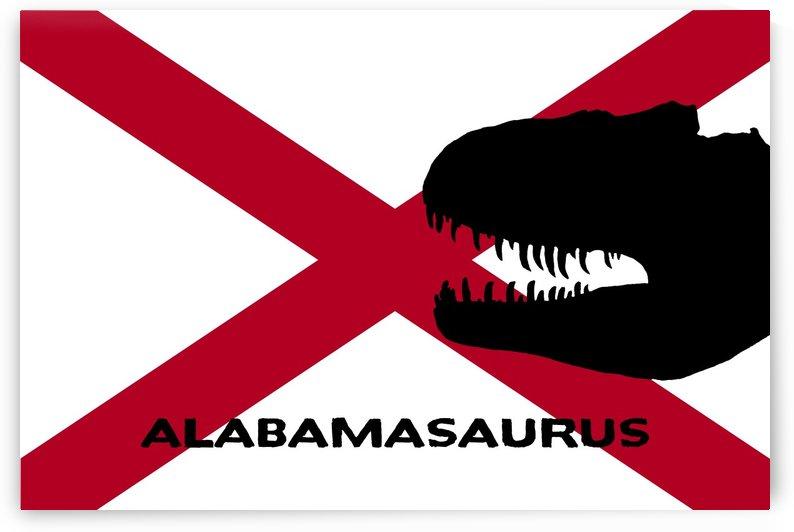 Funny Alabama Dinosaur Flag Art by Brian Kindsvater
