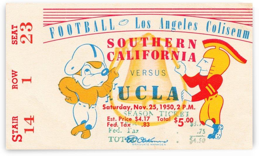 1950 usc ucla los angeles la coliseum college football sports art by Row One Brand