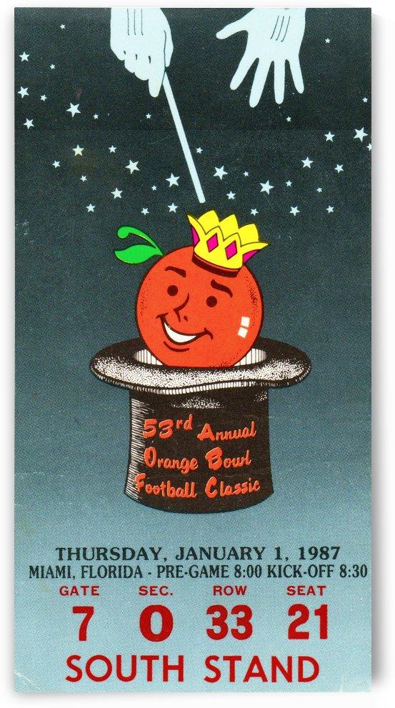 1987 Oklahoma Sooners Orange Bowl Champions by Row One Brand