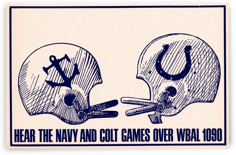 1964 Baltimore Colts Navy WBAL 1090 by Row One Brand
