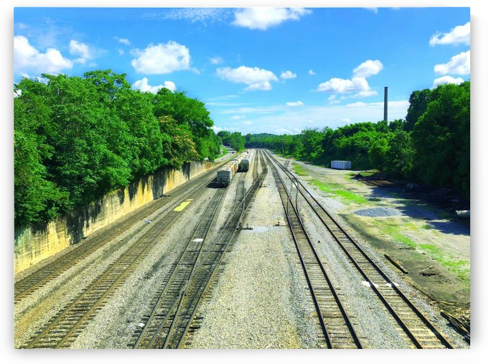 West Mary Street Bridge Railroad Tracks by Richardson Photography