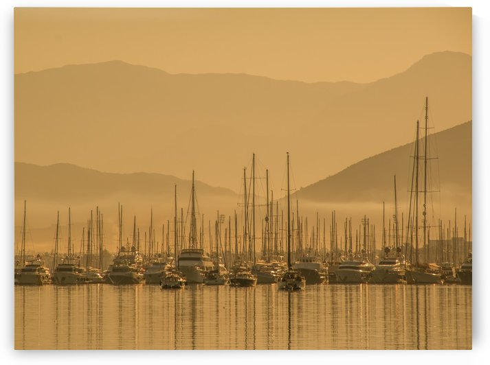 The Harbor in Fethiye by Douglas Madel