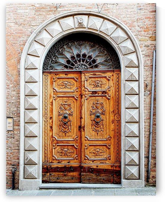 Ornate Wooden Door Citta della Pieve 2 by Dorothy Berry-Lound