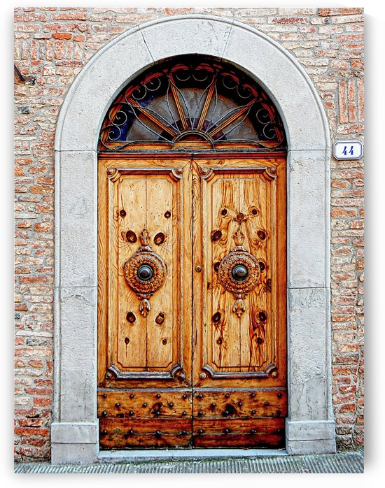 Ornate Wooden Door Citta della Pieve 1 by Dorothy Berry-Lound