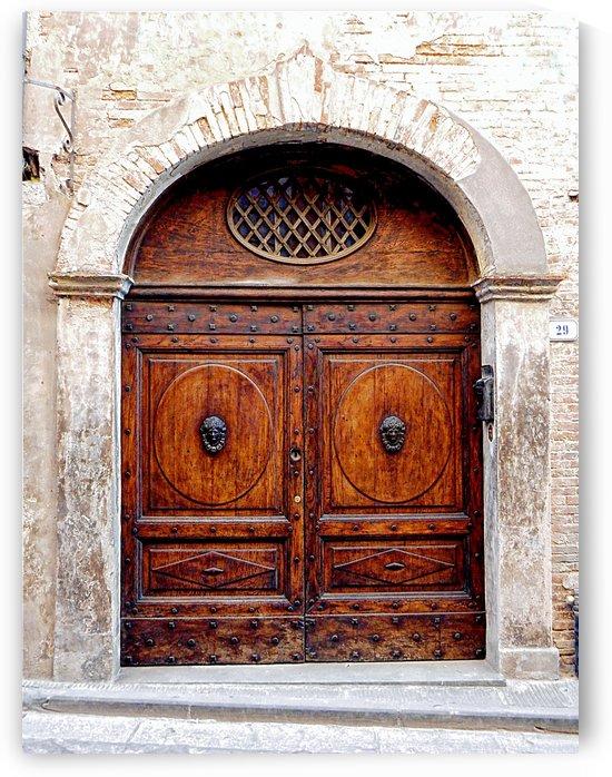 Ornate Wooden Door Citta della Pieve 4 by Dorothy Berry-Lound